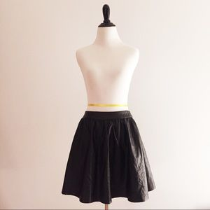 Topshop Faux Leather Circle Skater Skirt